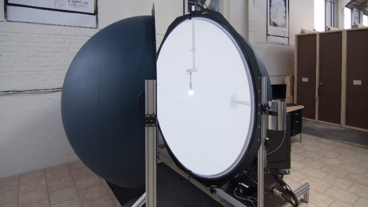 Photometric Laboratory with 2 meter integrating sphere partially open